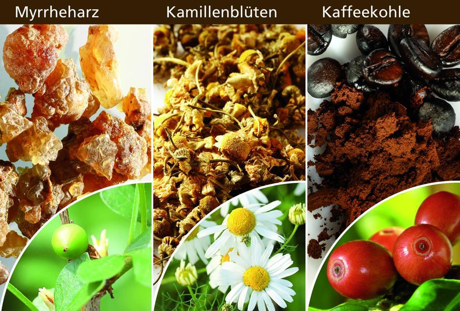 Neue Studie zeigt: Myrrhe, Kamille und Kaffeekohle können Darmkrämpfe lindern. Foto: akz-o